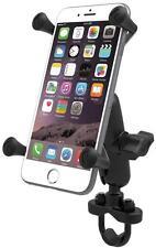 RAM Mount Motorcycle Handlebar Rail Mount X-Grip Cell Phone Holder iPhone 7, 7+
