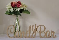 Candy Bar MDF 15cm Wooden Letters freestanding sign gift wedding decor birthday