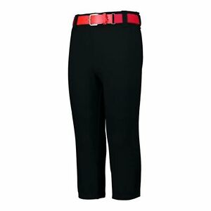 Augusta Sportswear Pull-Up Baseball Pants With Loops - Black, S