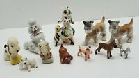 Vtg Ceramic Puppy Dog Figurine Mixed Lot of 11 Japan Poodle Boxer Plastic Metal