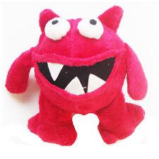 Hundespielzeug - Loony Monster - Plüschspielzeug mit Moosgummiball - 15 cm - Rot