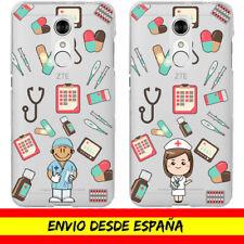 Funda Movil Gel ZTE / Profesion Enfermero Enfermera Nurse Dibujo Transparente
