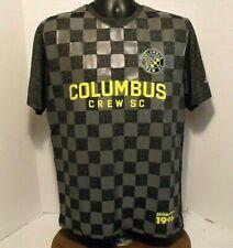 Columbus Crew Adidas MLS Jersey Shirt Black Gray Checkered Jersey Shirt  LG  VGC