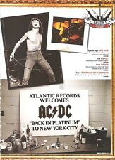 AC/DC 'welcome back to New York'  magazine PHOTO/Poster/clipping 11x8 inches
