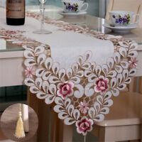 Tischläufer Polyester Floral Hohl Mikrowelle Tischdecken Wachstuch Home Dekor 桌布