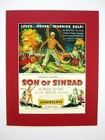 alter Kino Film Druck hinter Passepartouts Sindbads Sohn 1955 50x40 cm 435