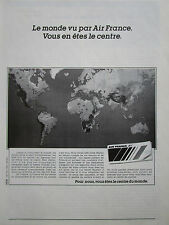 11/1989 PUB COMPAGNIE AERIENNE AIR FRANCE CARTE RESEAU AERIEN ORIGINAL FRENCH AD