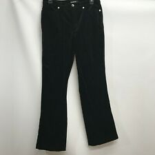Cambio jeans Jade Black Cotton stretch Velour Velvet pants Size 10