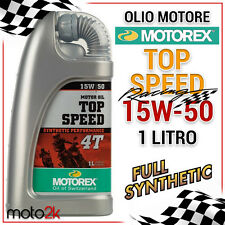 1 LITRO OLIO MOTO MOTOREX TOP SPEED 4T 15W50 100% SINTETICO KTM OFF ROAD