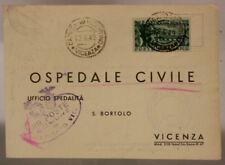 STORIA POSTALE REPUBBLICA 15 LIRE RICOSTRUZIONE PONTE DEGLI ALPINI 1949 #SP586