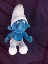 "1979 Vintage Peyo Smurf Plush Toy Doll Animal Cartoon Character 12 1/2"" sitting"