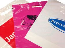 "10 KG Misprinted Patch Handle Plastic Fashion  Carrier Bags 15'' x 18'' x 3"""