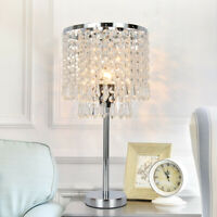 Home Table Lamp Room Elegant Decorative Desk Lamp With Crystal Shade Decor US