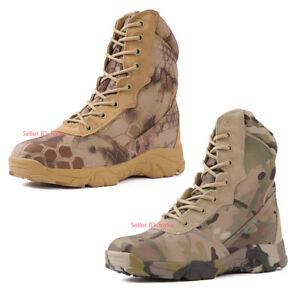 Mens Military Combat Boot Tactical Work Boot Climbing Waterproof Desert Shoes