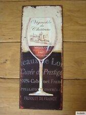Nr.H0047 MERLOT - SCHILD - Blechschild - Nostalgie - Wein - Glas - France
