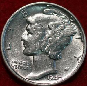Uncirculated 1940-D Denver Mint Silver Mercury Dime