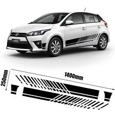 Racing Pinstripe Stripe Black Side Skirt Door Bumper Body Vinyl Decal Sticker #5