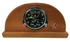 Vintage Soviet Military Airforce Aircraft Clock Lot 1082