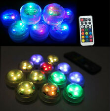 10x Submersible Underwater LED Remote Vase Floral Tea Lights Party Wedding Decor