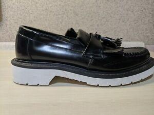 LOAKE Shoemakers ENGLAND BLACK TASSLE SLIP ON SHOES MEN SIZE UK6