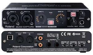 ROLAND EDIROL UA-55 QUAD CAPTURE USB & MIDI AUDIO INTERFACE  24 BIT 22 25 1010
