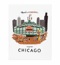 "Rifle Paper Co. - Art Print - Chicago - 11""x14"" - Wrigley Field - CHGO Cubs"