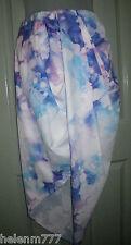 New Morning Mist Size 10 Drape Split Panel Front Skirt White Blue Purple tones