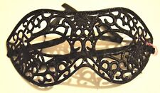 NEW Black patterned glitter wired look Masquerade Mask Eye Gothic halloween