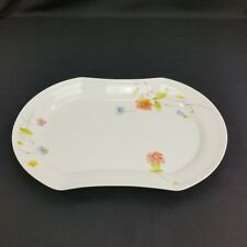 """Mikasa Just Flowers Oval Platter 14 3/4"""" A4-182 China"""