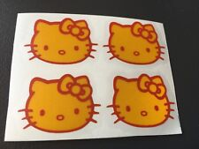 STICKER HELLO KITTY RETRO REFLECTIVE MOTORCYCLE HELMET SCOOTER BICYCLE YELLOW