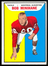 1965 TOPPS CFL FOOTBALL #71 BOB MINIHANE NM MONTREAL ALOUETTES Boston Patriots