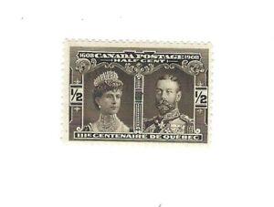 Canada 1908 Quebec Tercentenary 1/2c  Black #96  MH VF $15