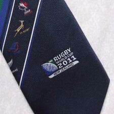 RUGBY WORLD CUP 2011 TIE RWC CREST MOTIF MENS LONG NECKTIE SPORT