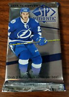 2014-15 NHL SP Authentic 5 card packs: see checklist details inside