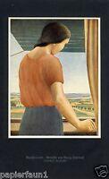 Ausschauende Kunstdruck von 1926 Georg Schrimpf Entartete Kunst warten Aussicht