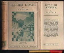 1933 HCDJ Special People & Places ENGLISH LEAVES E V Lucas 167pg + Photos