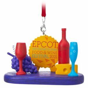 Disney Parks Epcot Food And Wine Ornament Festival 2021 - Logo