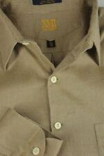 Camisa de vestir de vestir de hombre marrones de 100% algodón