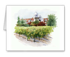 NAPA VINEYARD Set of 10 Note Cards With Envelopes