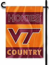 "Virginia Tech Hokies 13"" x 18"" Two-Sided Garden Flag (Country) Ncaa Licensed"