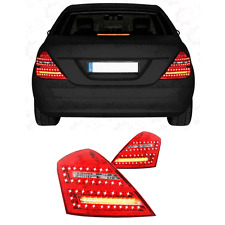 LED 2 x Rückleuchten Mercedes Benz S W221 Bj 05-09 Red / Crystal / Klarglas