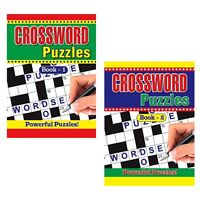 2 X  Large Print Crossword Puzzle Books Book 325 Puzzles A4 Pages Trivia Fun Uk