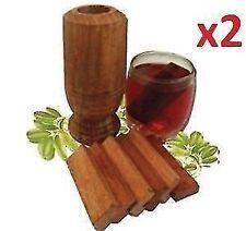 Vijaysar Herbal Tumbler Control Diabetes & Sugar Ayurvadic Wood Glass Set Of 2