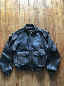 VINTAGE Avirex Flight Jacket Type A-2 Leather Army Air Forces Brown Size L