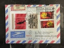 1980 Elsterwerda East Germany DDR Souvenir Sheet Cover To Quebec Canada