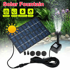 Solar Power Fountain Submersible Water Pump Bird Bath Pond Garden Decor Us