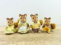 Sylvanian Families Walnut Squirrel Family Cedric Yardley Ralph Saffron Set
