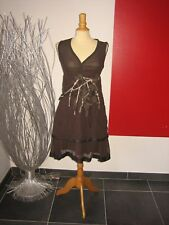 ELEGANTE ROBE BRODée  EMBROIDERED  DRESS  SAVE THE QUEEN T XL 40 42 UK 12 14