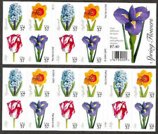 3903b BC207 Spring Flowers Convertible Booklet unfolded PO Fresh Mint NH