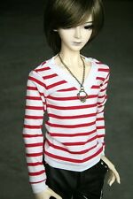 [PF] 06# Red Striped T-shirt SD17 DZ70 70cm BJD Dollfie